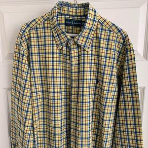 polo ralph lauren striped shirt button up size XL